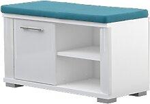 Sitzbank mit Stauraum Sili 04, Farbe: Weiß -