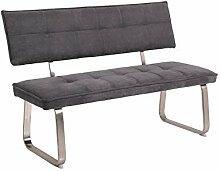 Sitzbank Nena mit Rückenlehne, Bezug Webstoff