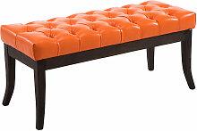 Sitzbank Ramses Kunstleder antik-dunkel-orange-100 cm