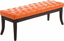 Sitzbank Ramses Kunstleder antik-dunkel-orange-120 cm