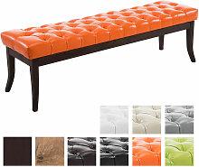 Sitzbank Ramses Kunstleder antik-dunkel-orange-150 cm