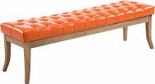 Sitzbank Ramses Kunstleder antik-hell-orange-150 cm