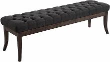 Sitzbank Ramses Stoff antik-dunkel-dunkelgrau-150