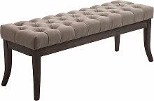 Sitzbank Ramses Stoff antik-dunkel-taupe-120 cm