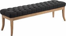 Sitzbank Ramses Stoff antik-hell-dunkelgrau-150 cm