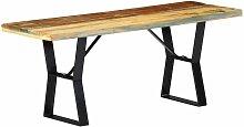 Sitzbank Recyceltes Massivholz 110cm