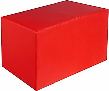Sitzbank rot Maße: 70 cm x 35 cm x 42 cm