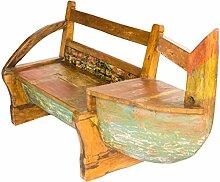 Sitzbank, Sofa, Sitzecke aus altem Bootsrumpf / Sitzbänke und Hocker