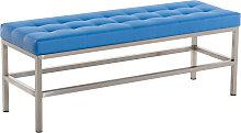 Sitzbank St. Pauli Kunstleder-blau-120 cm