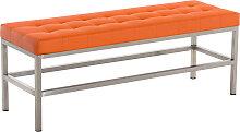 Sitzbank St. Pauli Kunstleder-orange-120 cm