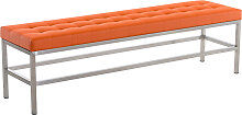 Sitzbank St. Pauli Kunstleder-orange-160 cm