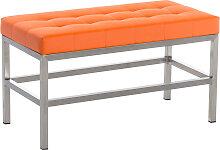 Sitzbank St. Pauli Kunstleder-orange-80 cm