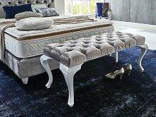 Sitzbank Vegas Polsterbank 122cm Barock Chesterfield Steppungen Knöpfungen für Schlafzimmer