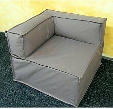 Sitzecke Ebern Designs Farbe: Beige