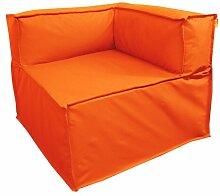 Sitzecke Ebern Designs Farbe: Orange