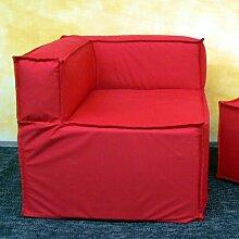 Sitzecke Ebern Designs Farbe: Rot