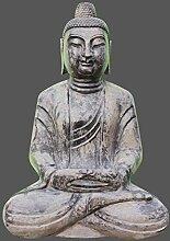 Sitzende Buddha Figur Garten Buddha aus Naturstein