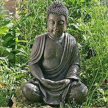 SITZENDE BUDDHA STATUE LOTUS budda skulptur asia