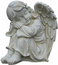 Sitzender Engel - schlafendes Mädchen mit Flügeln