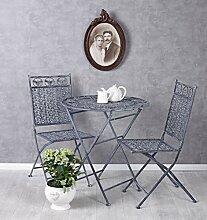 Sitzgarnitur Gartenmöbel Set Tisch und 2 Stühle