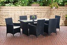 Sitzgruppe Avignon-schwarz-Cremeweiß