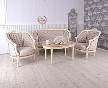 Sitzgruppe Barock Salonganitur Sofa 2 Sessel Tisch