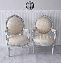 Sitzgruppe Barock Stühle Set zwei Sessel Pärchen