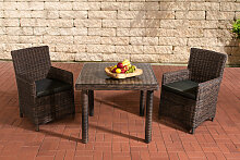 Sitzgruppe Dorado Klarglas-rund/braunmeliert-90
