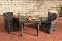 Sitzgruppe Dorado Klarglas-rund/graumeliert-90
