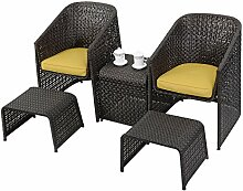 Sitzgruppe Gartenmöbel Rattan Lounge Set Polyratten Rattenmöbel Polyester Edelstahl Tisch Sofa Sessel Garten Garnitur Sitzgarnitur Gartengarnitur
