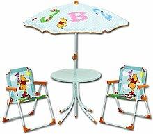 Sitzgruppe - Kindergruppe - Schirm - Kindersitzgruppe mit Schirm mit Motivauswahl (Winnie Pooh)