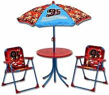 Sitzgruppe - Kindergruppe - Schirm - Kindersitzgruppe mit Schirm mit Motivauswahl (Cars)