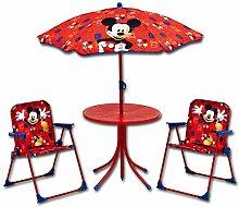 Sitzgruppe - Kindergruppe - Schirm - Kindersitzgruppe mit Schirm mit Motivauswahl (Mickey)