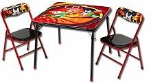 Sitzgruppe- Kindertisch - Kindersitzgruppe - Falttisch mit 2 Stühlen mit Motivauswahl (Mickey Mouse)