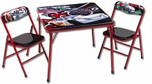 Sitzgruppe- Kindertisch - Kindersitzgruppe - Falttisch mit 2 Stühlen mit Motivauswahl (Cars)