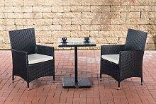 Sitzgruppe Palermo-schwarz-Cremeweiß
