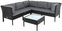 Sitzgruppe Rattan Gartenmöbel Polyratten Set