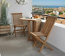 Sitzgruppe Sitzgarnitur Teak Holz Gartenset
