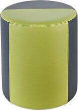 Sitzhocker 2-farbig dunkelgrau-hellgrün Ø34 x
