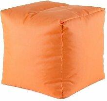 Sitzhocker 39x39cm Sitzwürfel Würfel Sitzsack Sitzkissen Kindersack Kinderwürfel (orange)