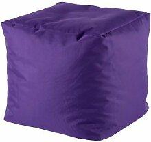 Sitzhocker 39x39cm Sitzwürfel Würfel Sitzsack Sitzkissen Kindersack Kinderwürfel (lila)
