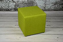 Sitzhocker 40x40x40 SAWANA Grün Sitzwürfel Schemel Fußhocker Cubic Fußbank Puff Sitz Hocker
