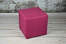 Sitzhocker 40x40x40 SAWANA Pink Sitzwürfel Schemel Fußhocker Cubic Fußbank Puff Sitz Hocker