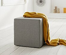Sitzhocker Dado Grau 45x45 cm Sitzwürfel Hocker