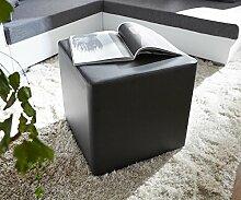 Sitzhocker Dado Schwarz 45x45 cm Sitzwürfel