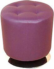 Sitzhocker H107, Hocker Loungehocker, drehbar, Kunstleder ~ lila