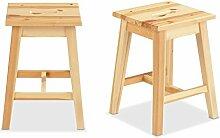 Sitzhocker Holzhocker Hocker OLEK | Braun | Kiefernholz massiv