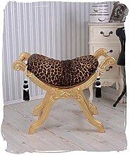 Sitzhocker Leopard venezianischer Schemel Hocker Barock Gold