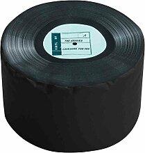 Sitzhocker mit LP-Muster, Dot Com Füllung aus 100 % EPS-Perlen, 60 l Volumen, Maße: B/H/T ca. 50/30/50 cm