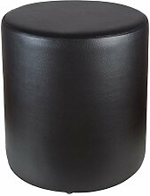 Sitzhocker schwarz Ø 34 cm x 34 cm